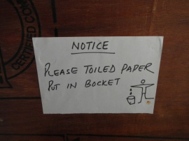 Please Toiled Paper Put in Bocket