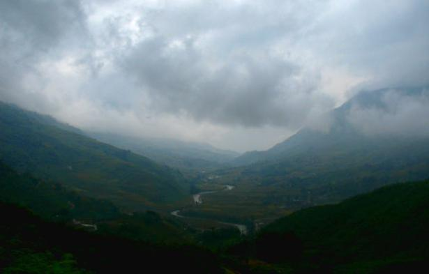 view from Sapa, Vietnam