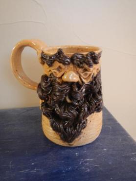 beard face coffee mug