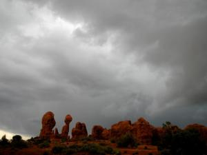 clouds in arches