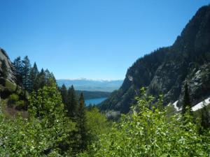 Looking back Devil's Canyon toward Phelps Lake.