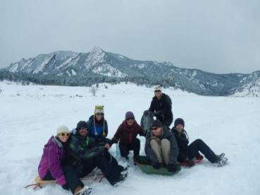 sledding in Boulder Colorado