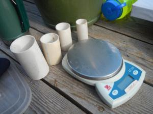 bird banding scales and weigh tubes