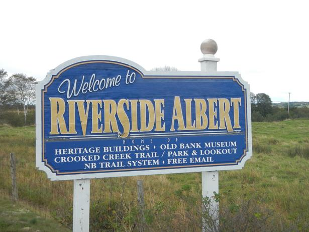 sign for Riverside Albert Canada