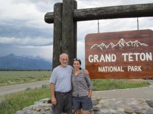 Dad and me in the Tetons